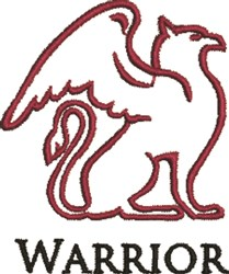 Gryphon Warrior Outline embroidery design