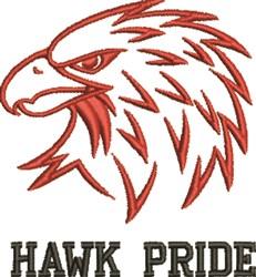 Hawk Outline embroidery design