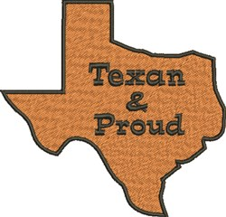 Texas & Proud embroidery design