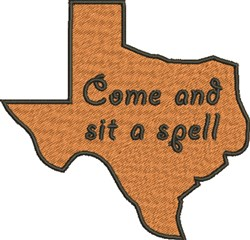 Texas Invitation embroidery design