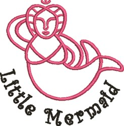 Little Mermaid Outline embroidery design