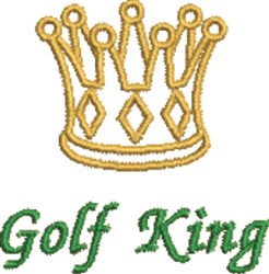 Golf King embroidery design