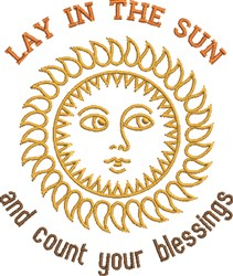 Lay In The Sun embroidery design