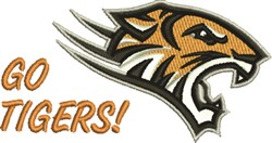 Go Tigers! embroidery design