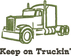Keep On Truckin embroidery design
