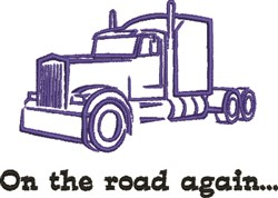 On The Road Again embroidery design