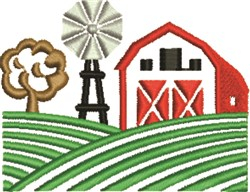 Farm Scene embroidery design