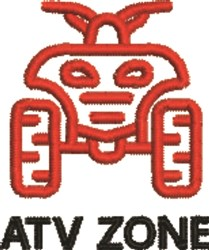 ATV Zone embroidery design