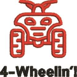 4-Wheelin embroidery design