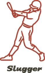 Baseball Slugger embroidery design