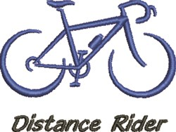 Distance Rider embroidery design