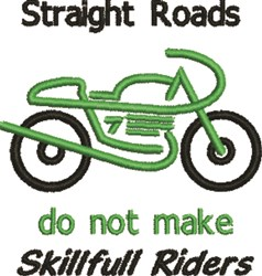 Straight Roads embroidery design