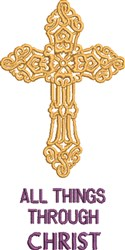 Through Christ embroidery design