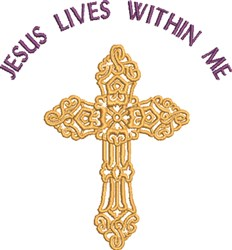 Jesus Lives embroidery design