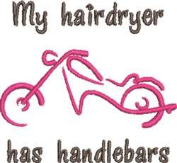 My Hairdryer embroidery design