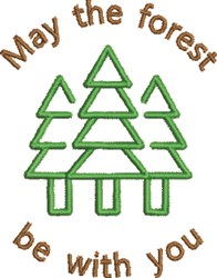 Forest Be With You embroidery design