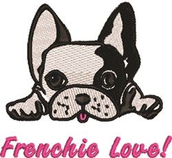 Frenchie Love embroidery design
