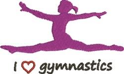 Love Gymnastics embroidery design