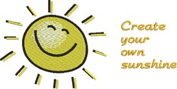 Create Sunshine embroidery design