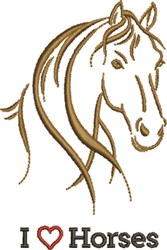 Love Horses embroidery design