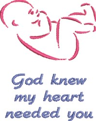 My Heart Needed You embroidery design