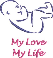 My Love embroidery design