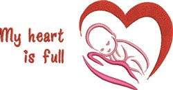 Heart Is Full embroidery design