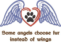 Fur Angels embroidery design