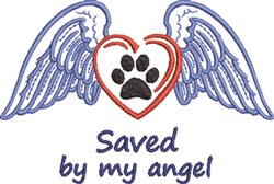 Save By My Angel embroidery design