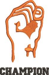 Champion embroidery design