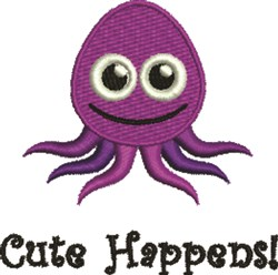 Cute Happens embroidery design