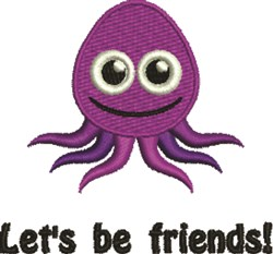 Lets Be Friends embroidery design