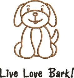 Live Love Bark embroidery design