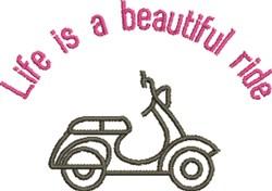 Beautiful Ride embroidery design