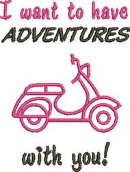 Adventures With You embroidery design