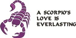A Scorpios Love embroidery design