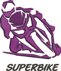 Superbike embroidery design