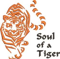 Soul Of Tiger embroidery design