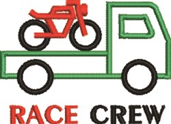 Race Crew embroidery design