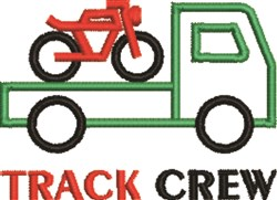 Track Crew embroidery design