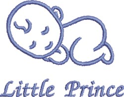 Little Prince embroidery design