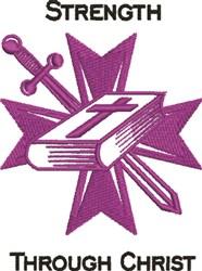 Strength Through Christ embroidery design