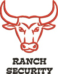 Ranch Security embroidery design