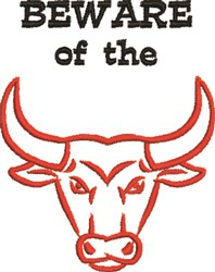 Beware Of Bull embroidery design