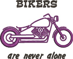 Bikers Never Alone embroidery design