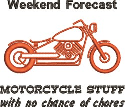 Weekend Forecast embroidery design