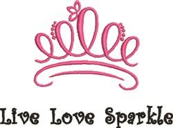 Live Love Sparkle embroidery design