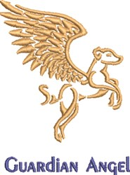 Guardian Angel embroidery design