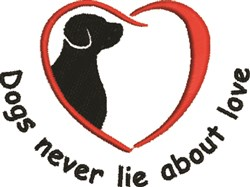 Dogs Never Lie embroidery design