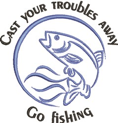 Go Fishing embroidery design